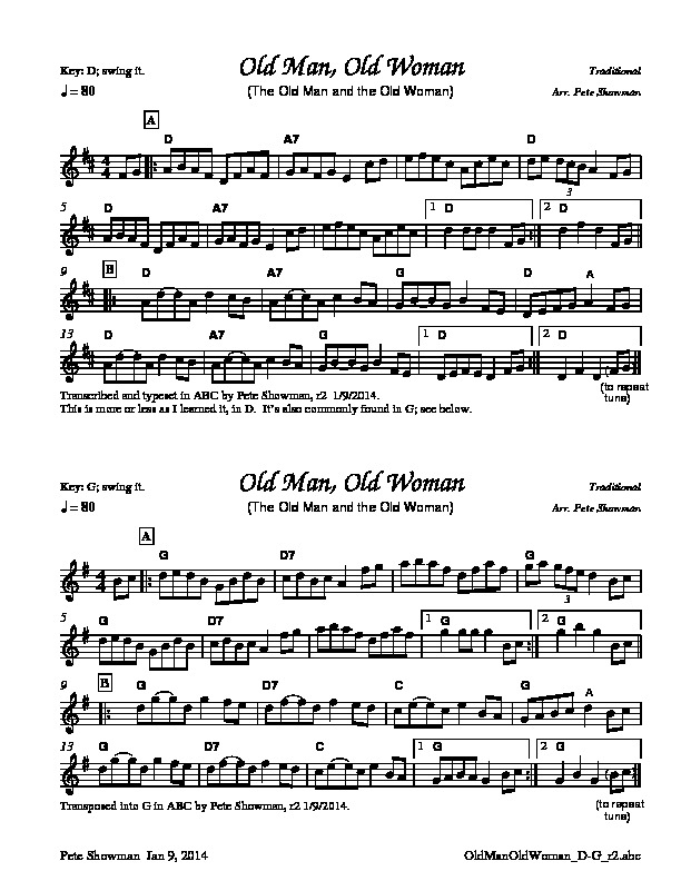 Old Time Fiddle Music, Alphabetically N-Z, Sheet Music, MP3S, Midi